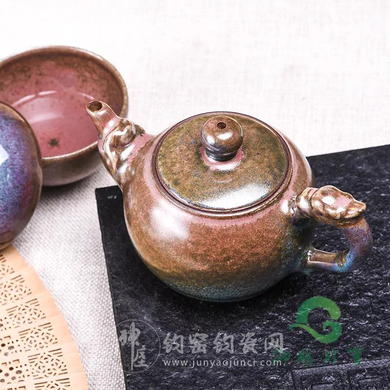 钧瓷特制茶壶——巧夺天工的窑变之美