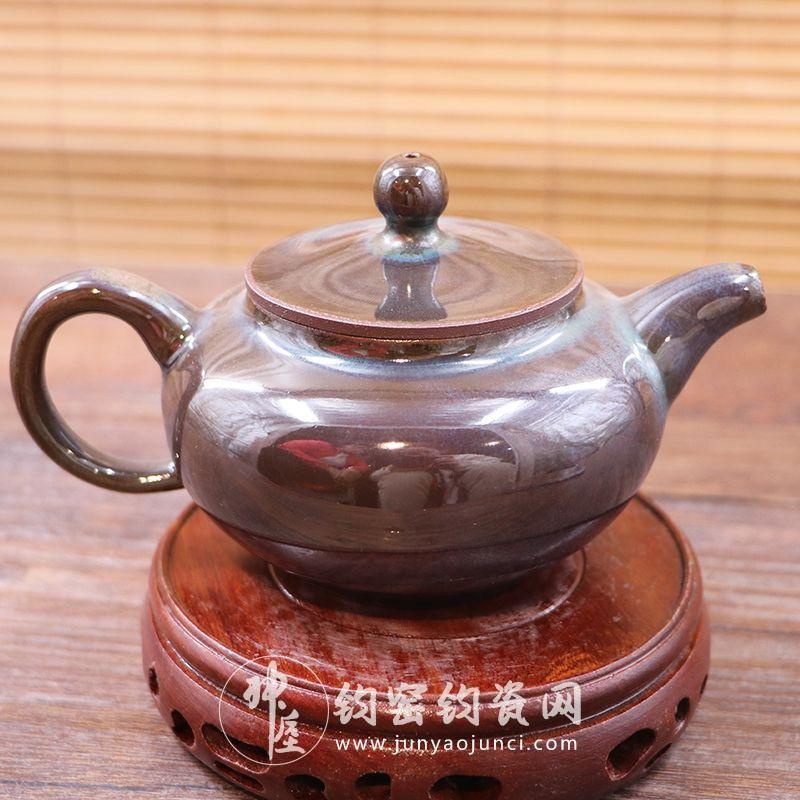 名家钧窑茶壶-禹州钧瓷网